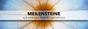 MEILENSTEINE - Auf dem Weg zum Projekterfolg