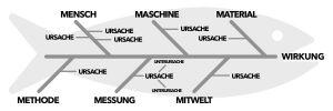 Ishikawa Diagramm (Fischgräte) - Ursachen
