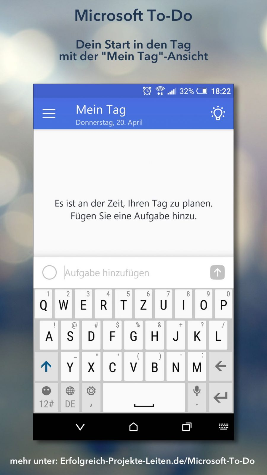 Microsoft To-Do - Mein Tag Ansicht