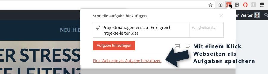 Todoist - Webseiten URLs speichern