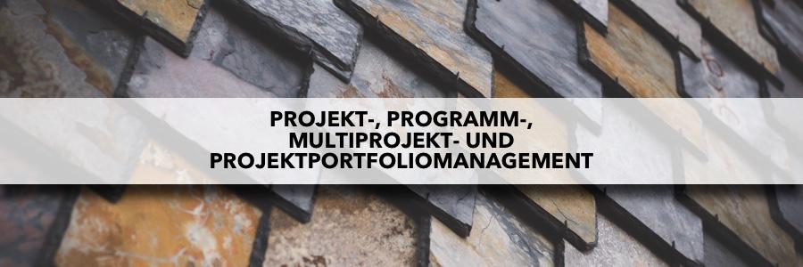 Was ist der Unterschied zwischen Projekt-, Programm-, Multiprojekt- und Projektportfoliomanagement?