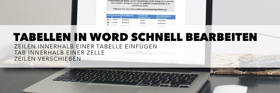 Tabellen in Word schnell bearbeiten