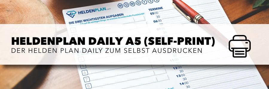 HeldenPlan Daily (Self-Print) zum selbst ausdrucken